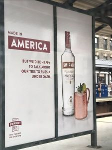 a Picture of Smirnoff's new vodka ad.
