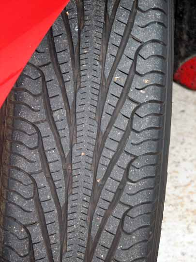a Picture of a real Goodyear Assurance TripleTred tire